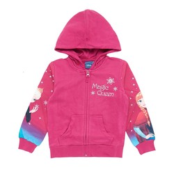 girl sweater, fuxia, 7 anni