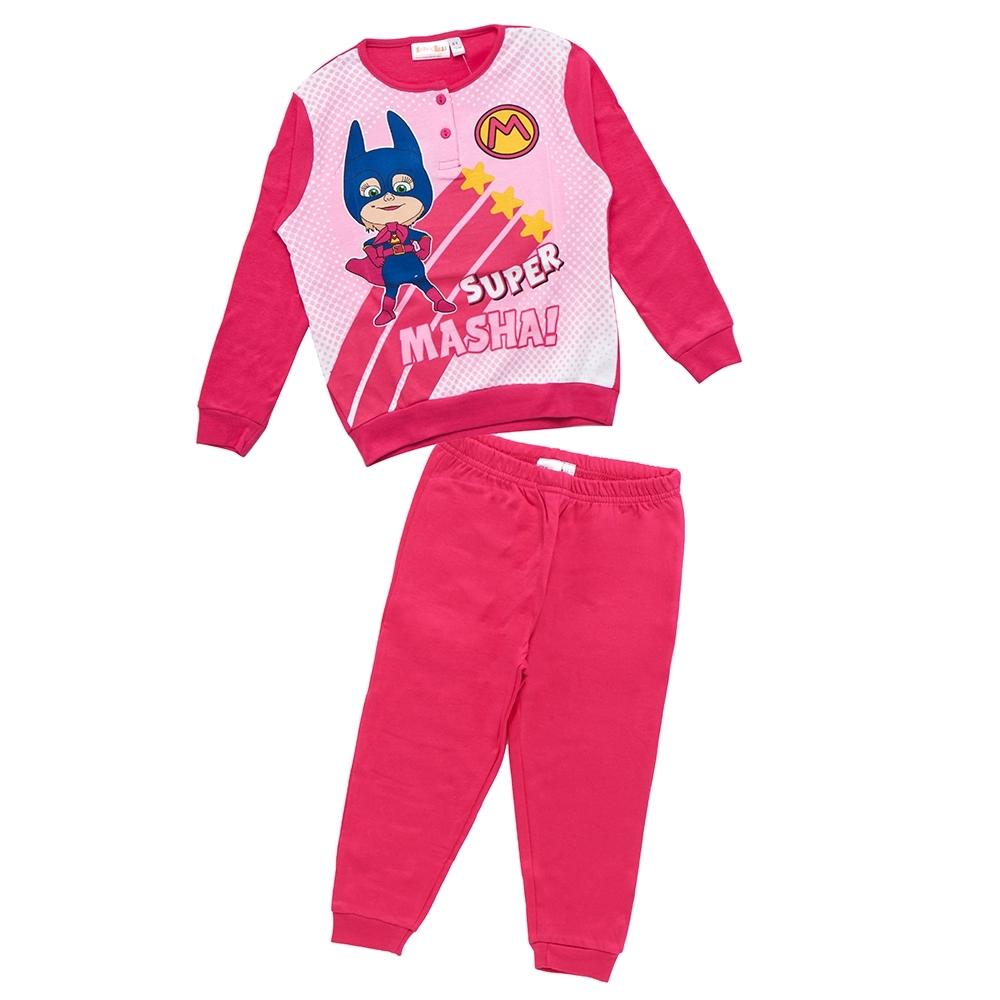 girl pyjama, fuxia, 2 anni