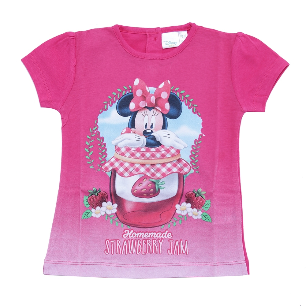 girl t-shirt, fuxia, 12 mesi